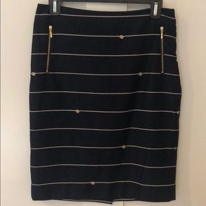 Like New The Limited Navy Nautical Skirt